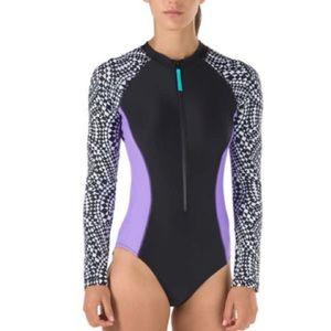 🏊♀️ Long Sleeve Speedo Paddle Suit-Large - NWT
